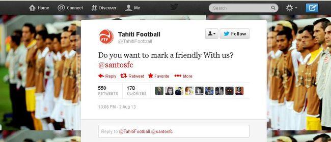 Seleção do Taiti convida Santos para amistoso após goleada