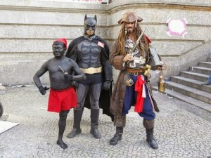 Batman, Jack Sparrow e Saci-Pererê