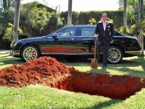 Bentley campanha carro celebridades Chiquinho Scarpa doação de órgãos enterro playboy saúde