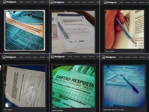 Fotos do cartão de respostas do Enem