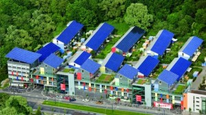 Casas com energia solar em bairro da Alemanha