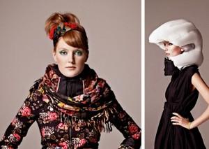 Mulher com capacete invisível ao lado de outra com o capacete acionado