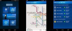 Aplicativo do metrô de São Paulo