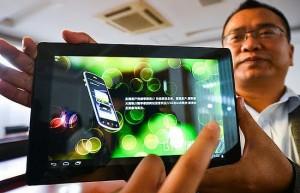 Chinês exibe tablet 3D