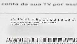 """Conta da Claro em nome de """"Otário Chorão"""""""