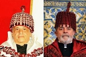 FHC e Lula usam com vestimentas para título de doutor honoris causa