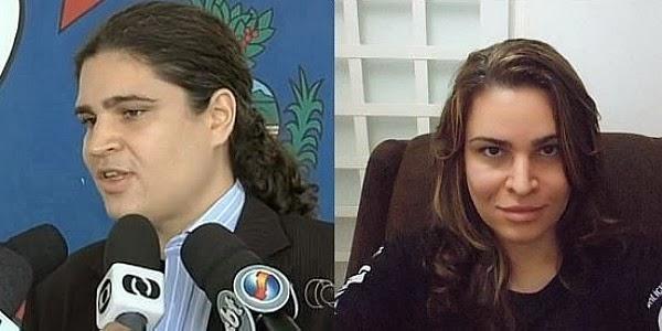 Delegado Thiago de Castro Teixeira e delegada Laura de Castro Teixeira