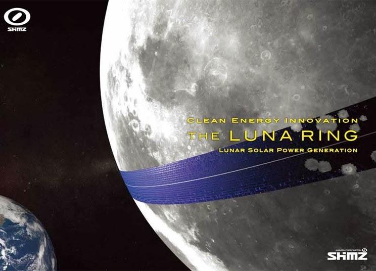 Painéis solares na lua