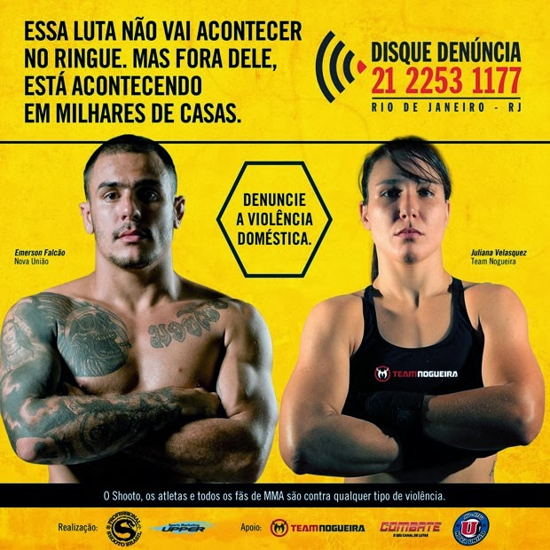 Cartaz do Disque Denúncia com atletas do MMA