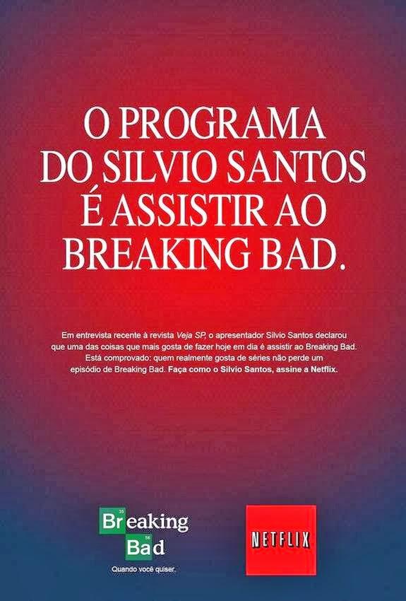 Anúncio da série Breaking Bad no Netflix
