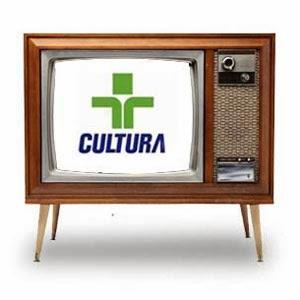 Televisão com logo da TV Cultura