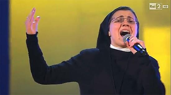 Irmã Cristina cantando no The Voice