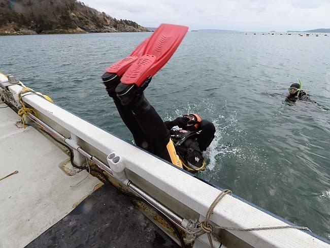 Yasuo Takamatsu mergulhando