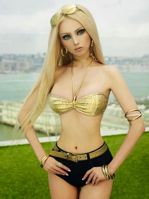 Modelo Valeria Lukyanova, a Barbie Humana