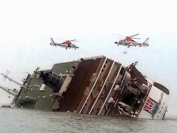 Balsa que naufragou na Coreia do Sul