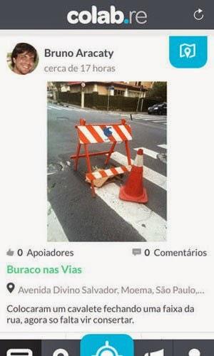 Postagem no aplicativo Colab