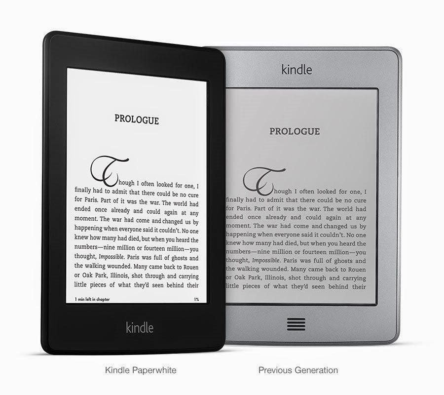 Kindle em fundo branco