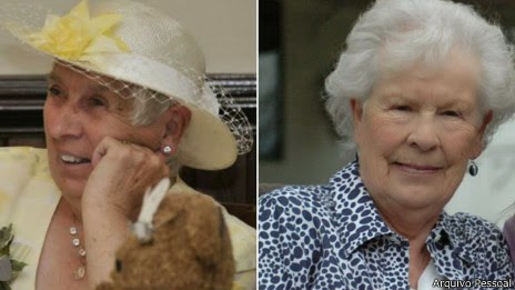 As gêmeas Ann e Elizabeth Ann Hamel aos 78 anos