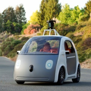 Carro do Google que dirige sozinho e sem volante