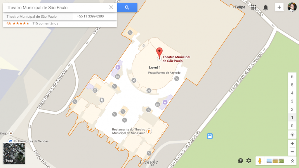 Theatro Municipal de São Paulo no Indoor Maps