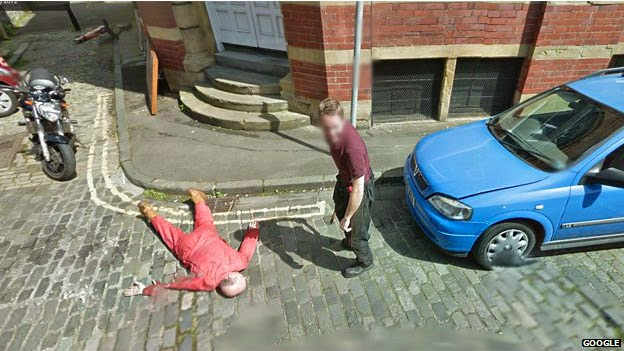 Cena falsa de assassinato no Google Street View