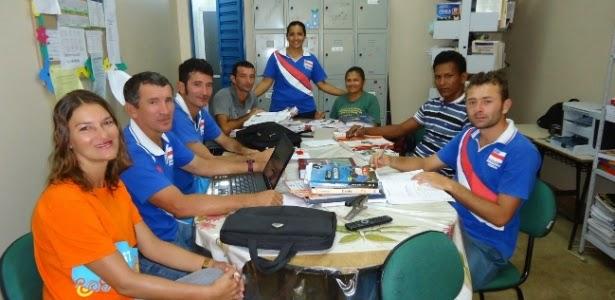 Professores da escola rural Vital de Andrade