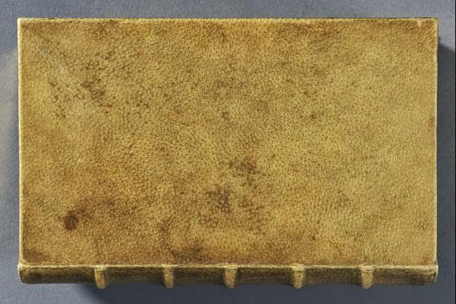 Livro com capa feita de pele humana