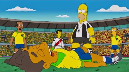 Jogador brasileiro machucado na série 'Os Simpsons'