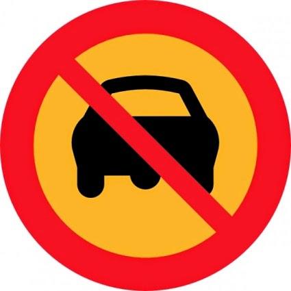Placa de proibido passar carro