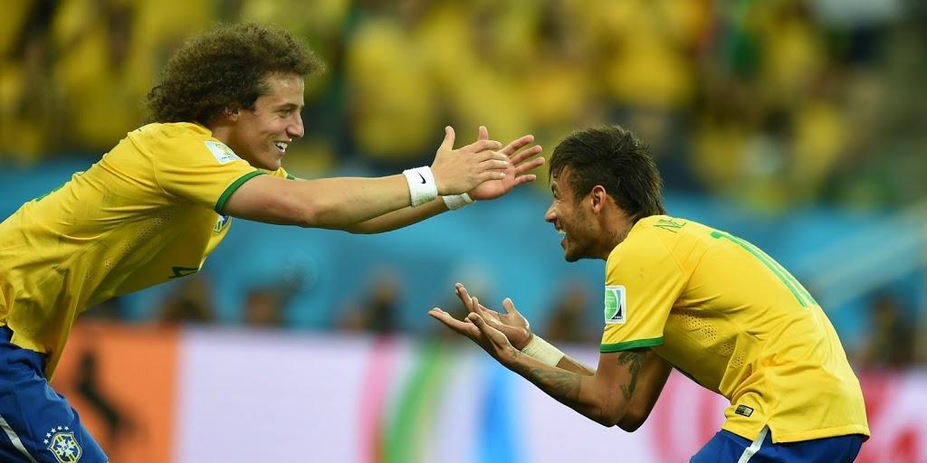David Luiz e Neymar