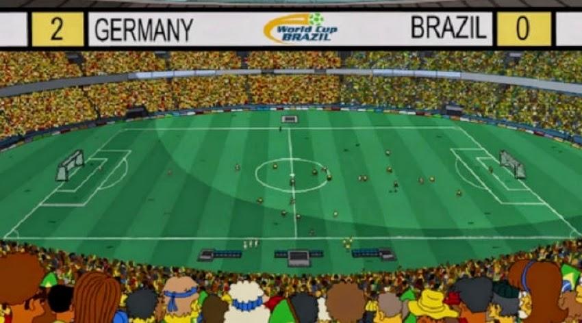 Vitória da Alemanha sobre o Brasil na série 'Os Simpsons'