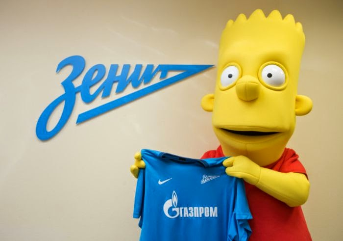 Bart Simpson segura camisa do Zenit