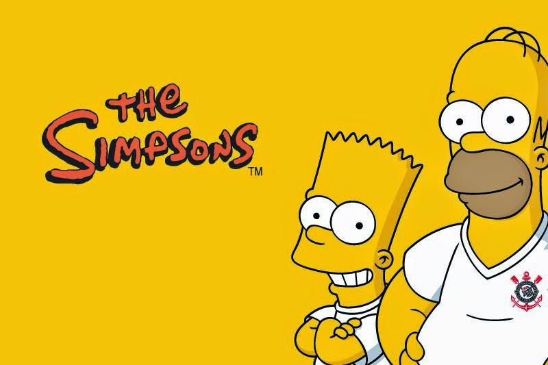 Bart e Homer com camisa do Corinthians