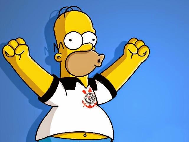 Homer com camisa do Corinthians
