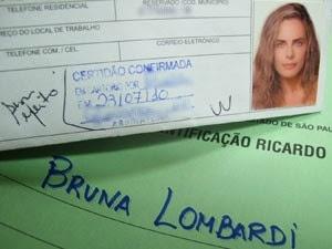 Identidade de Bruna Lombardi