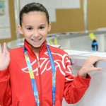 Criança de 10 anos vai nadar no Mundial.