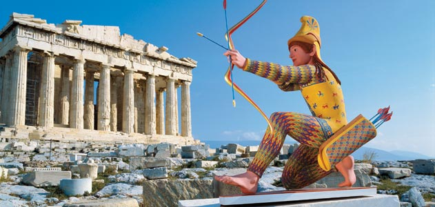 Estátuas de mármore da Grécia antiga eram pintadas de cores vibrantes