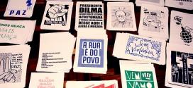 Gráfica imprime cartazes de graça para manifestantes