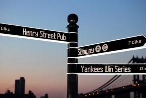 Placa moderna de sinalização é digital, rotatória e on-line