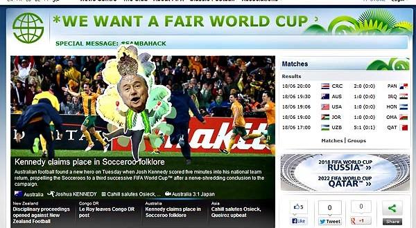 Hackers invadem site da Fifa