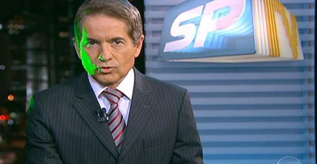 Luzes verdes atingem apresentador durante telejornal da Globo