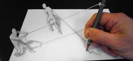 Artista italiano cria desenhos com efeito 3D que parecem sair do papel