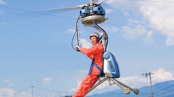 Empresário japonês inventa o menor helicóptero do mundo