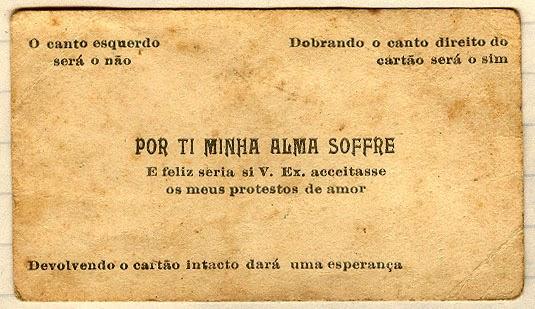 Cartão da paquera é encontrado em livro antigo no Rio Grande do Sul