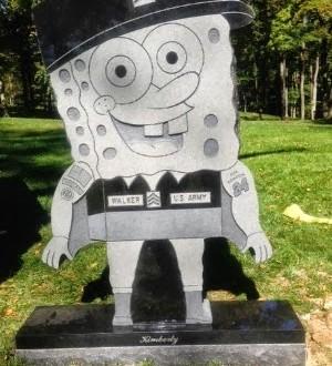 Cemitério americano proíbe lápide do Bob Esponja em túmulo de soldado