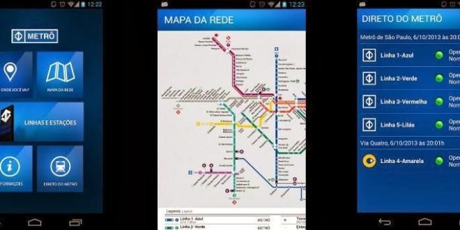 Metrô de São Paulo lança aplicativo para celular