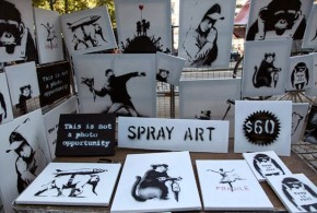 Obras originais do Banksy são vendidas por US$ 60 em parque de Nova York