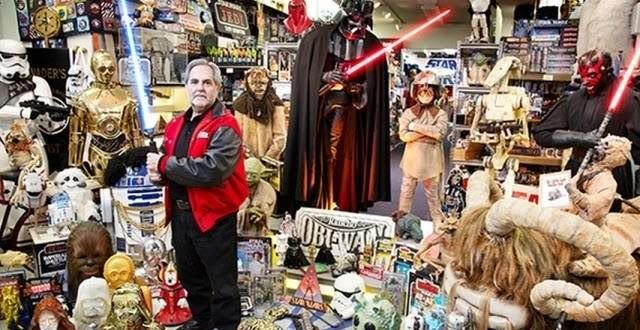 Rancho nos Estados Unidos detém a maior coleção de itens de Star Wars