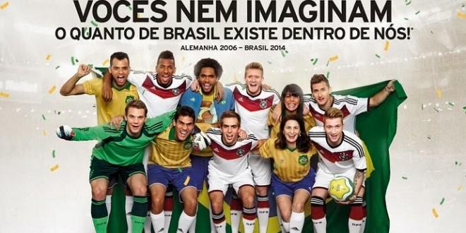 Seleção alemã saúda brasileiros em anúncio