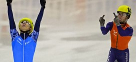 Patinador mostra dedo do meio a rival e faz Holanda perder medalha de prova
